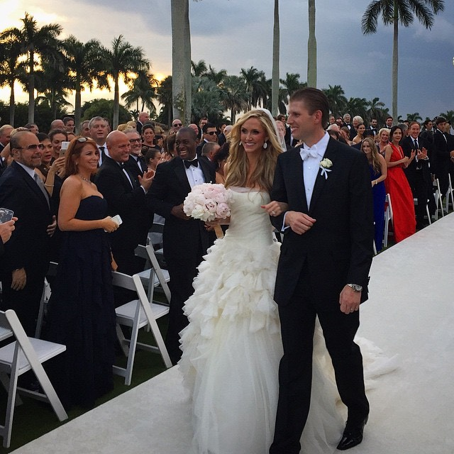 Eric Trump and Lara Yunaska weeding