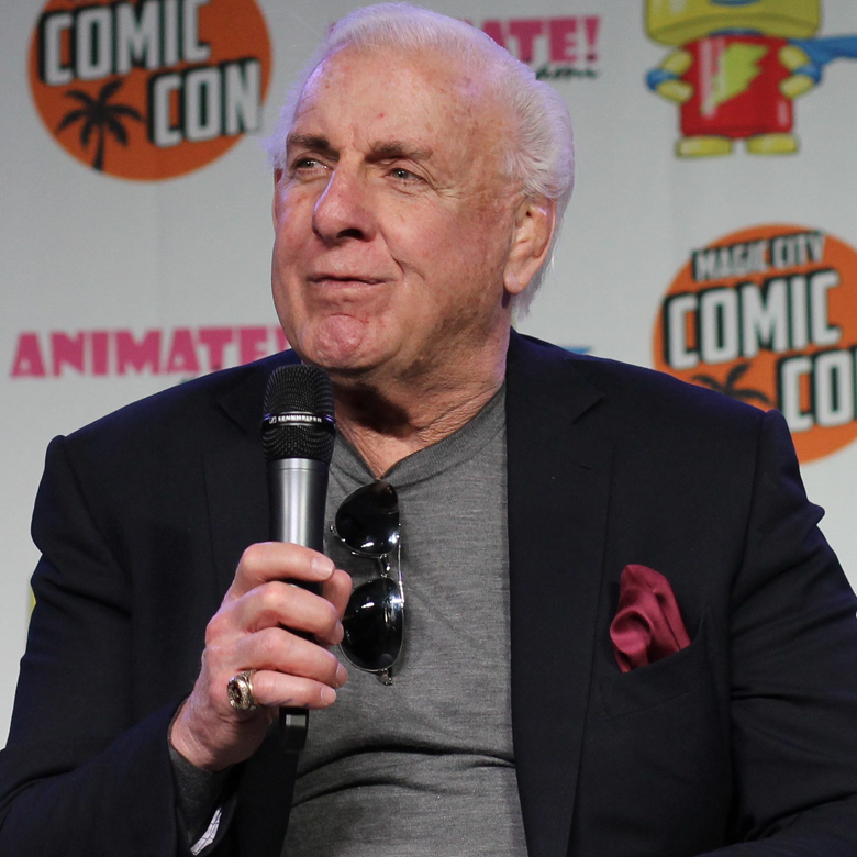 Flair at a Comic Con event in 2016