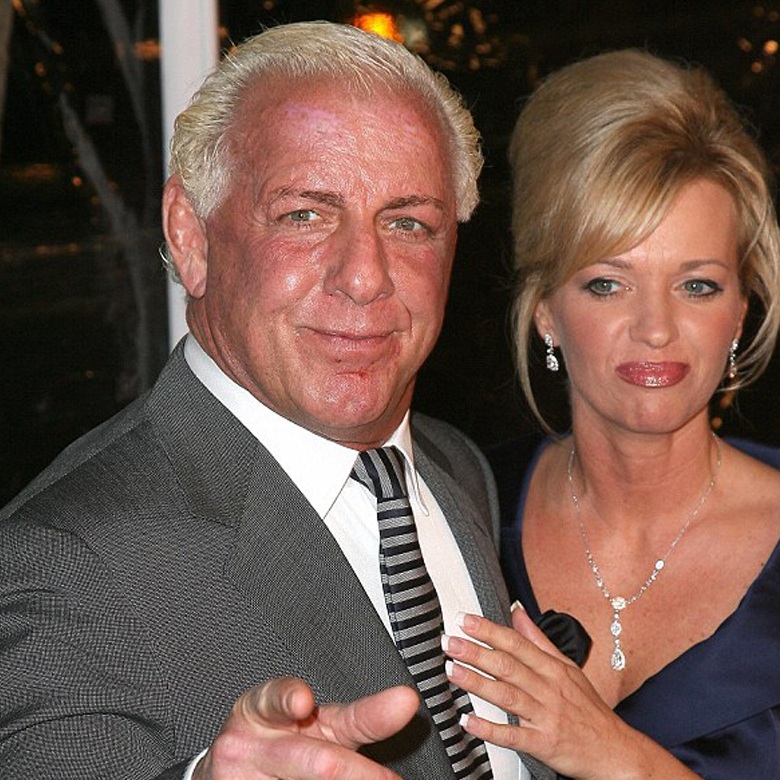 Flair with his ex-wife
