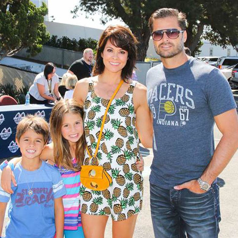 Brooke Burke with her family