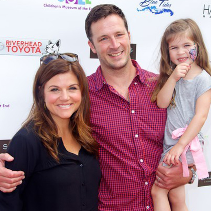 Tiffani Thiessen, husband Brady Smith and daughter Harper attend the 6th Annual Family Fair