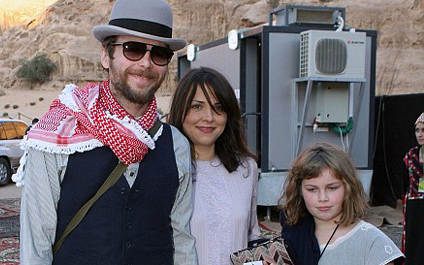 Jovanotti with his wife and daughter