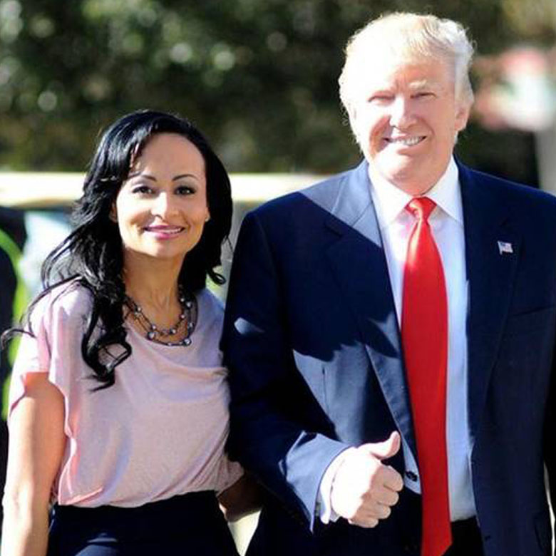 Katrina Pierson and Donald Trump in a Campaign