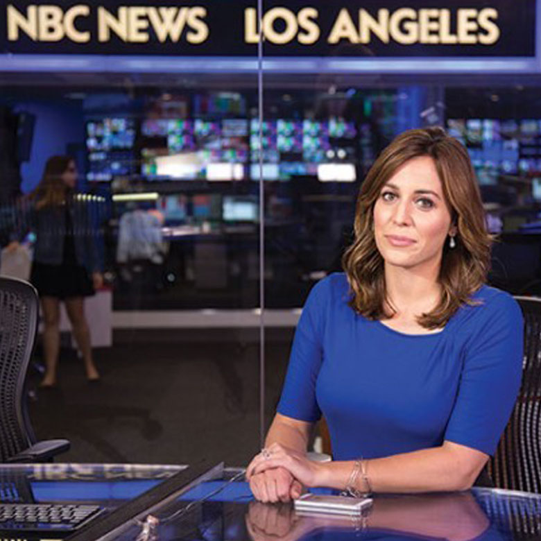 Hallie Jackson on NBC News set
