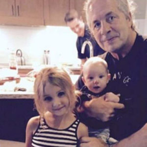 Bret Hart with his grandchildren