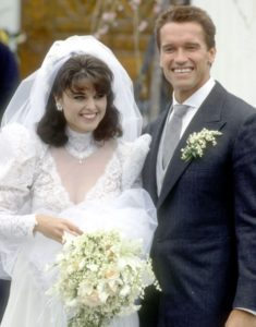 Maria Shriver and Arnold Schwarzenegger wedding photo of 1986