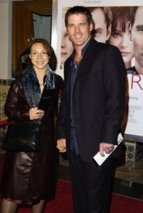 Ben Browder with her wife, life partner