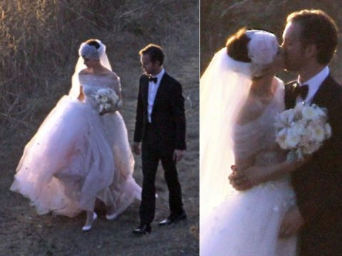 Elle and her second husband Jeffrey Soffer in their wedding