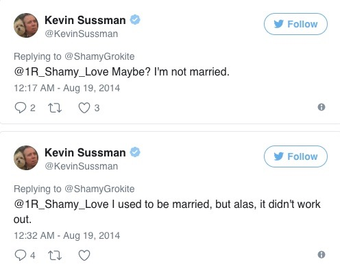 Talented Kevin tweeted about his wife.