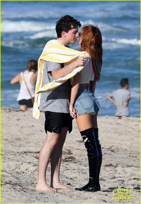 Bella Throne with her ex-boyfriend Charlie Puth
