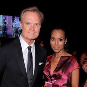 Lawrence with his girlfriend, Tamron Hall
