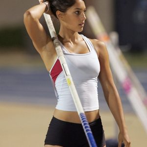 The beautiful and talented Allison Stokke in track