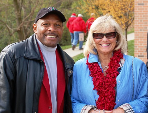 Archie Griffin with his wife