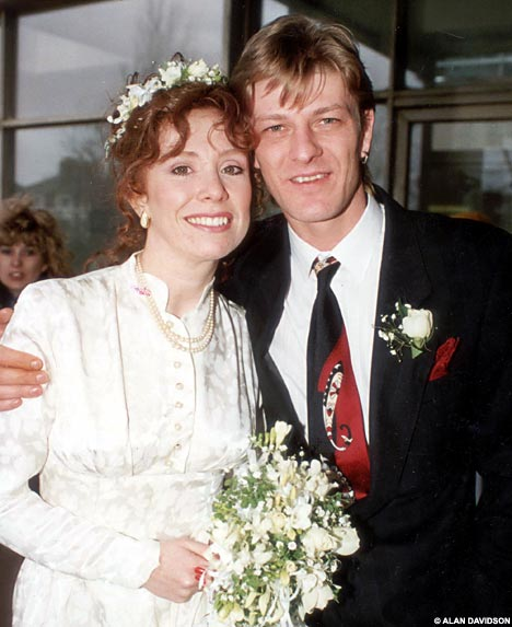 Sean Bean and second wife, Melanie Hill.
