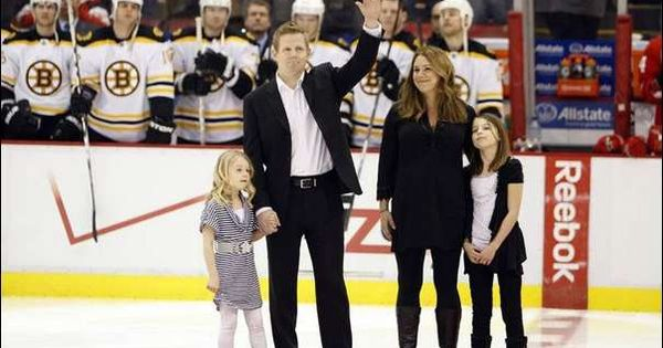 Chris Osgood with his family