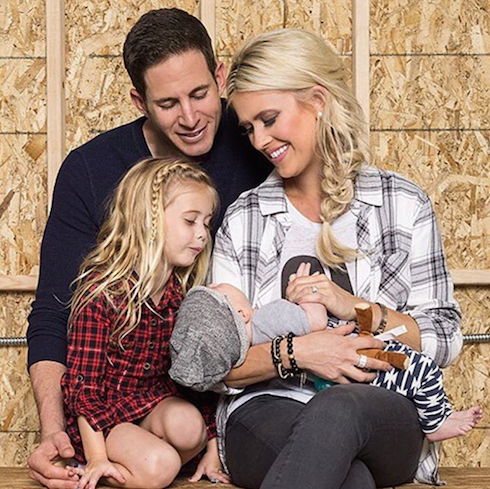 Christina El Moussa and Tarek with their children