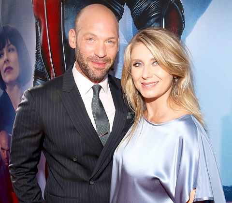 Corey Stoll with his wife, Nadia Bowers