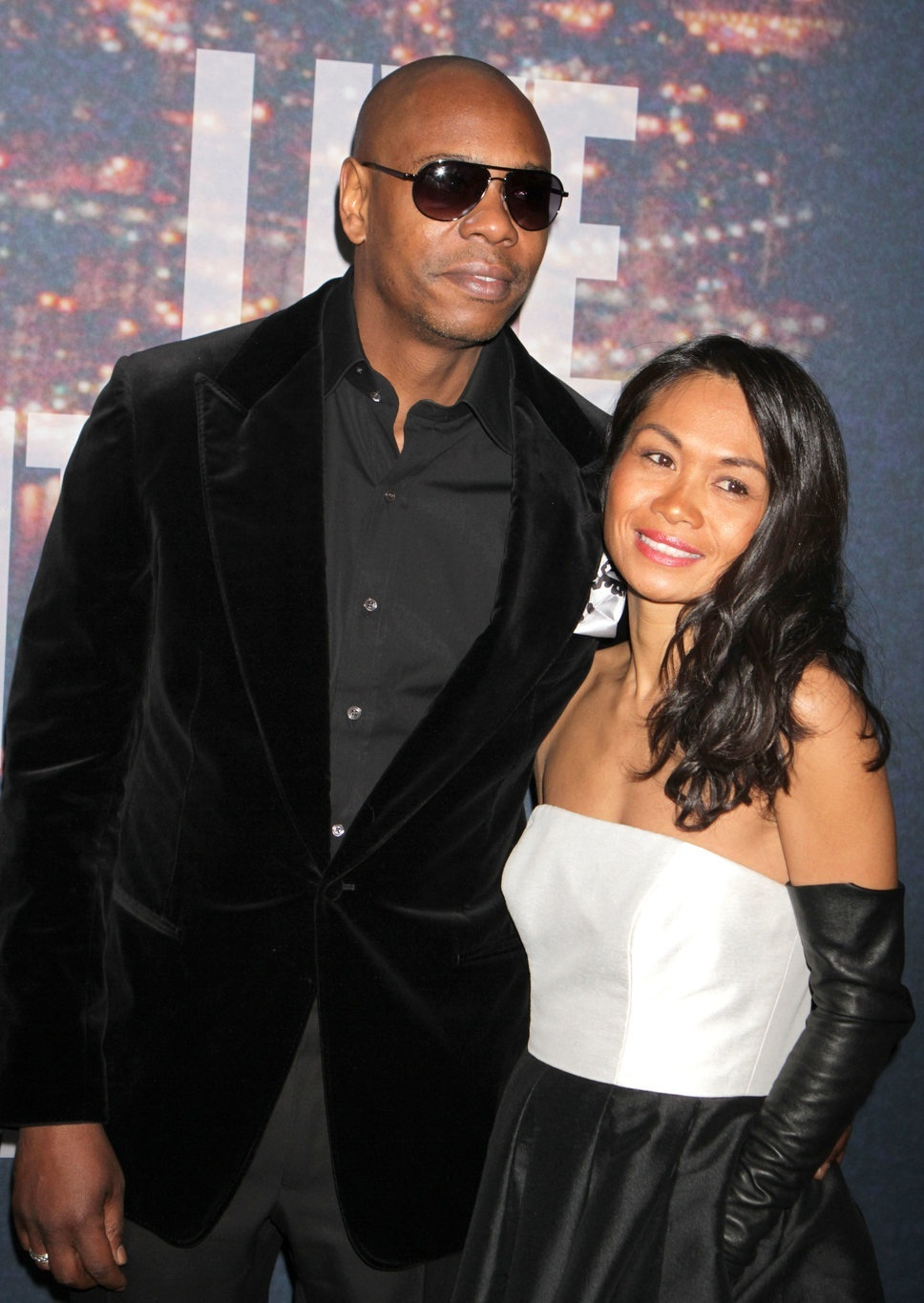 Dave Chappelle with his wife Elaine Chapelle
