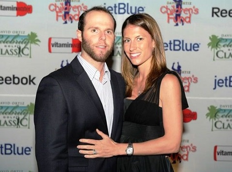 Dustin Pedroia and his wife Kelli Hatley