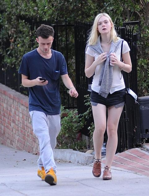 Elle Fanning with her ex-boyfriend Dylan Beck