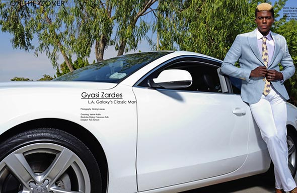 Football Star Gyasi Zardes with his expensive car.