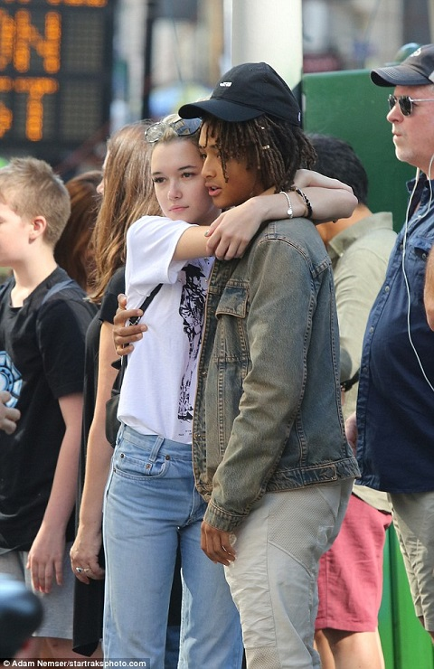Jaden Smith and his ex-girlfriend, Sarah
