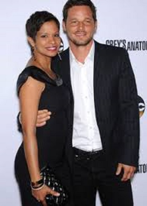 Justin Chambers with his wife named, Keisha