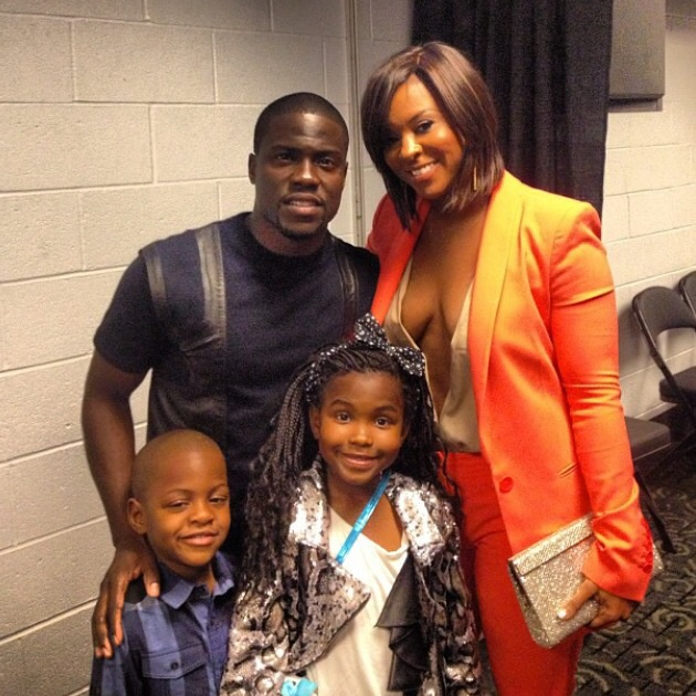 Kevin Hart with his Ex-Wife Torrei Hart and his children