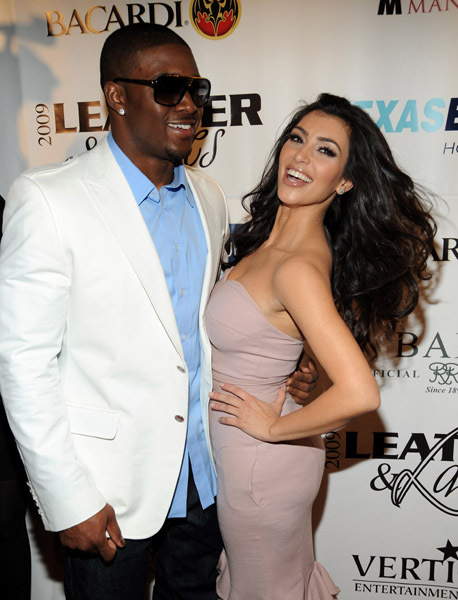 Kim Kardashian with Reggie Bush