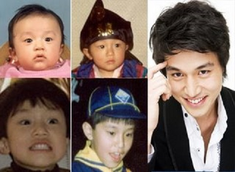 Lee Dong Wook during his childhood