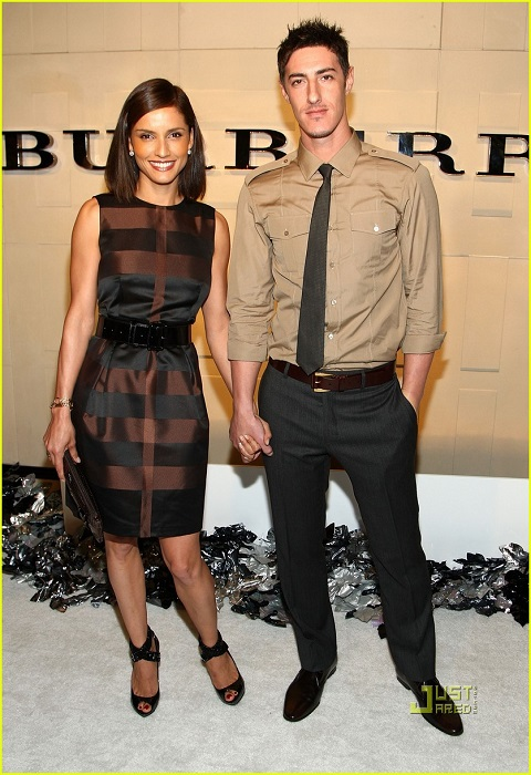 Leonor with her ex-boyfriend, Eric Balfour