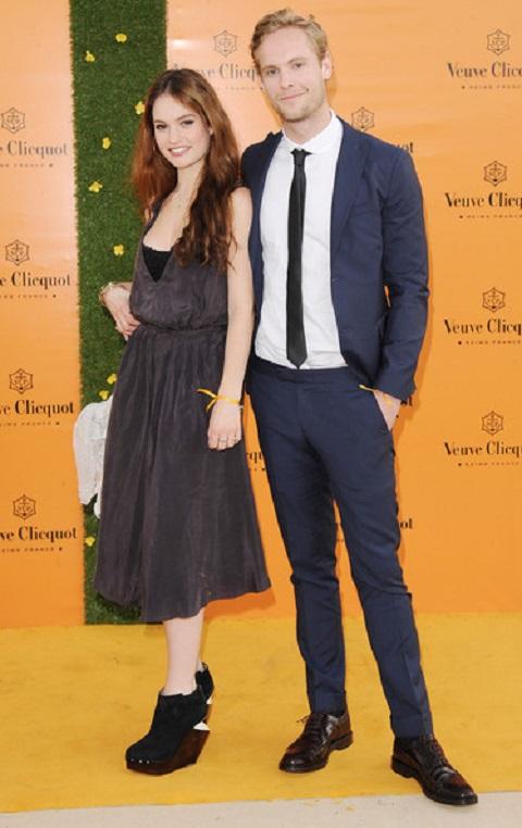 Lily James with her ex-boyfriend name, Jack Fox