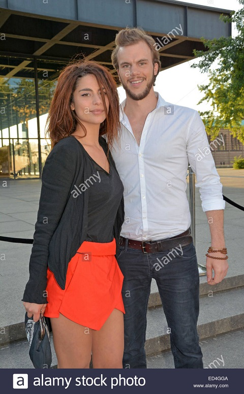 Nadia Hilker with her boyfriend, Mark Herbig