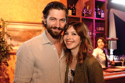 Husband and wife, Michiel Huisman and Tara Elders.