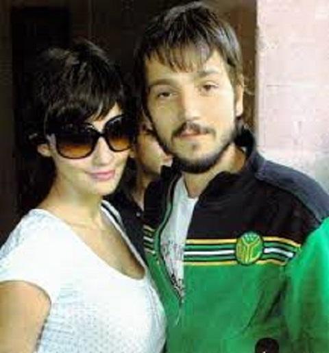 Paola with her ex-boyfriend, Diego Luna