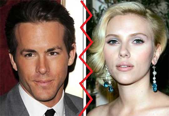 Ryan Reynolds Split with Scarlett Johansson