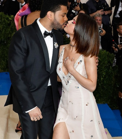 Selena with The Weeknd