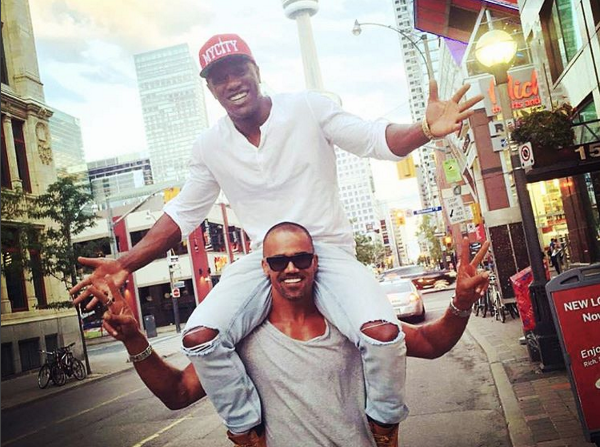 Shemar Moore with his friend