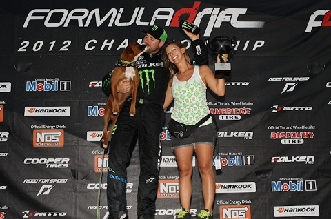 Vaughn Gittin Jr. with his wife