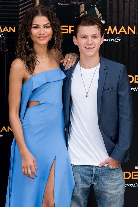 Zendaya with her boyfriend, Tom Holland