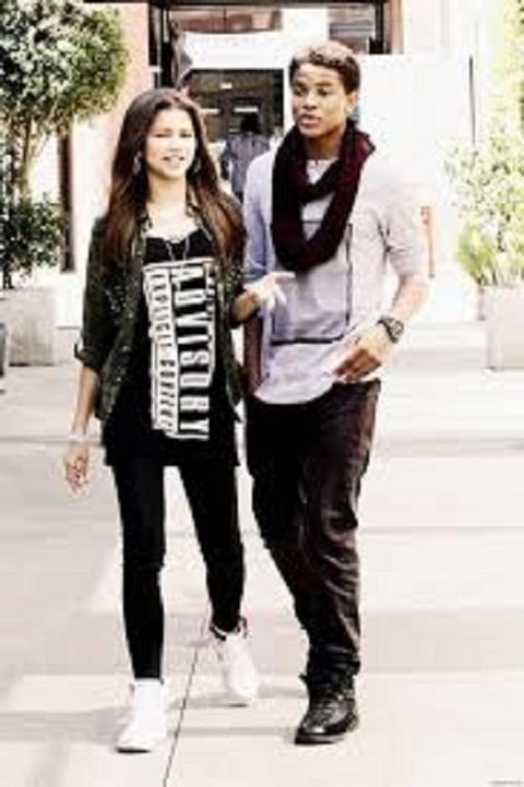 Zendaya with her ex-boyfriend,Trevor Jackson