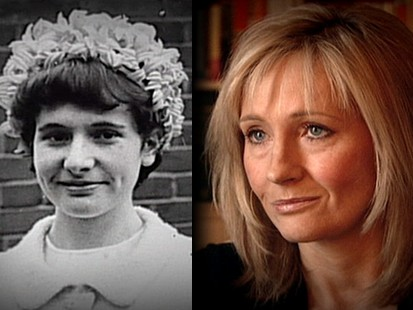 J.K. Rowling's young age photo.