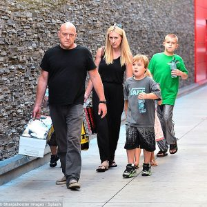 Dean Norris and his wife, Bridget with their children