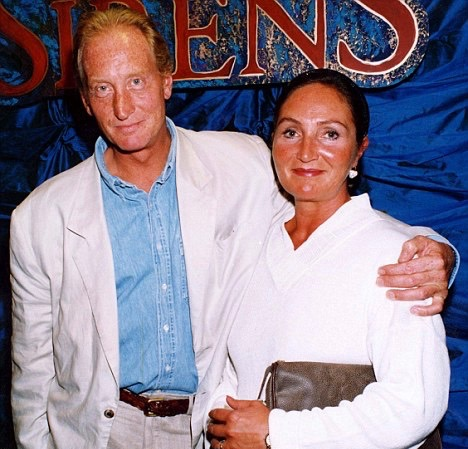 Charles Dance and his first wife, Joanna Haythorn.