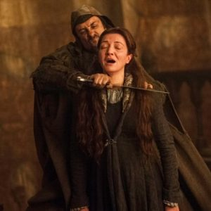 Michelle Fairley dead scene in GOT.