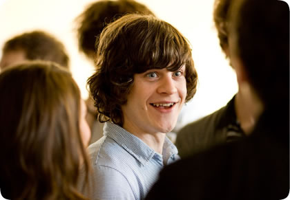 Iwan Rheon during his young age.