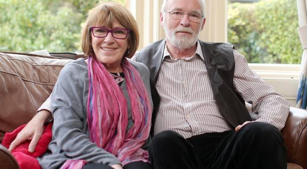 Husband and wife, Ian McElhinney and Marie Jones.