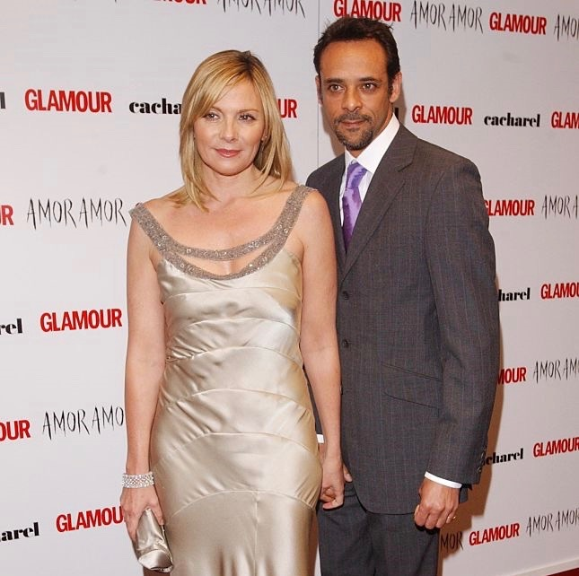 Former girlfriend and boyfriend, Kim Cattrall and Alexander Siddig.