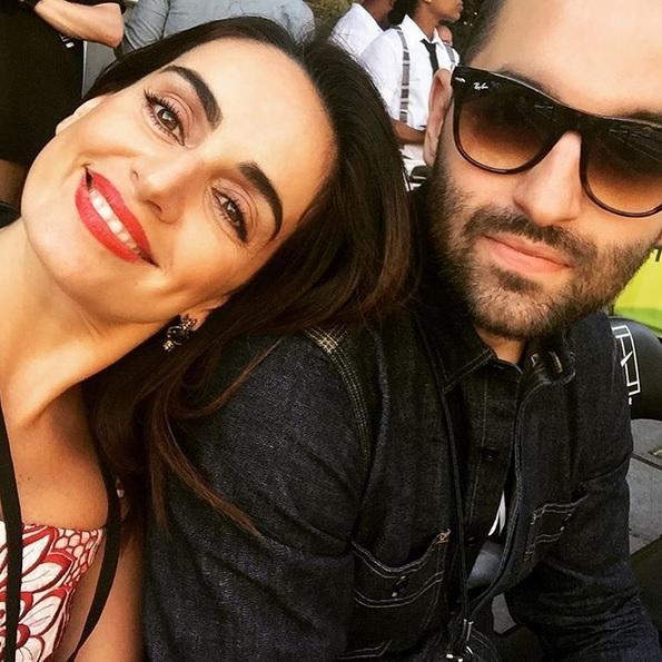 Ana de la Reguera and her boyfriend