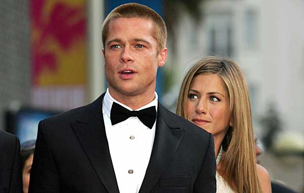 Brad Pitt with Jennifer